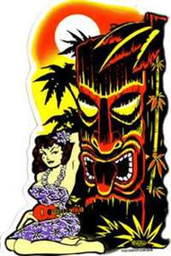 Hula Tiki Sticker/Decal from Vince Ray