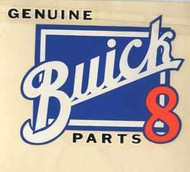 """Vintage Genuine Buick 8 Parts Water Slide Decal 4 1/2"""" x 4 1/2"""" Use this on your restoration"""