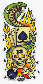 Vince Ray Tattoo Lucky 13 Sticker