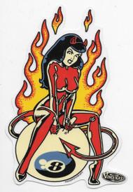 Vince Ray Space Hopper Girl Sticker