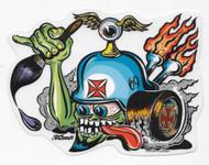 Von Franco Von Helmet Sticker