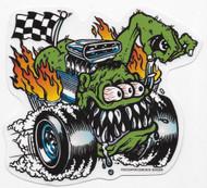 KOZIK Butt Racer Sticker