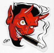 COOP Smoking Devil sticker