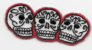 Three Skulls Embroidered Patch by Kruse