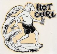 Vintage Hot Curl Surfer Water Slide Roth-style Decal