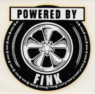 Vintage Powered by FINK Water Slide Decal