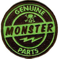 Genuine Monster Parts Embroidered Round Patch by Kruse