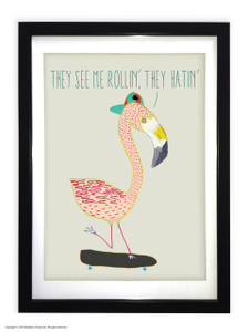 They See Me Rollin' - Large Quality A3 Frame with Mount board surround (choice of Black or White Frame)