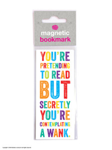 Contemplating A Wank Rude Magnetic Bookmark