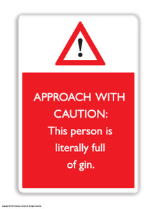 Full Of Gin Fridge Magnet