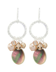 Coral Springs Earrings- Champagne
