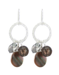 Coral Springs Earrings- Black