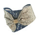 Navy + Gold Bow