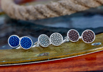 Cobalt Blue, Holographic Silver, Brown