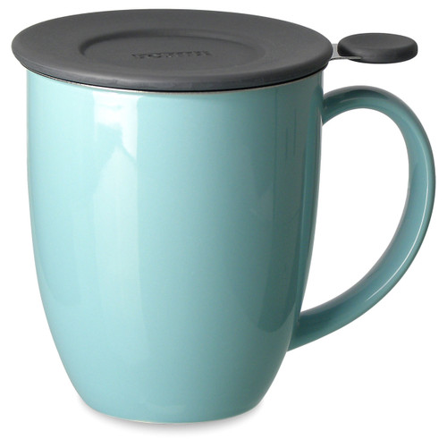 Brew in Mug with Infuser & Lid 16 oz-Turquoise