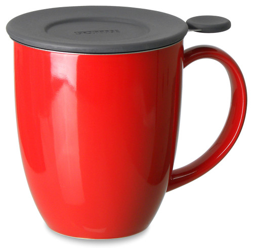 Brew in Mug with Infuser & Lid-Red Poppy