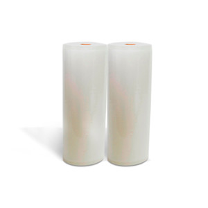 Lot of 2 11x50 11 x 50 Roll/Rolls for Vacuum Sealer Machines Food Storage & Money Saver Front view