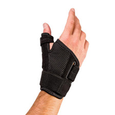 Houseables Reversible Thumb Stabilizer Wrist Brace Support MCP Joint Pain Arthritis Relief - Angle View
