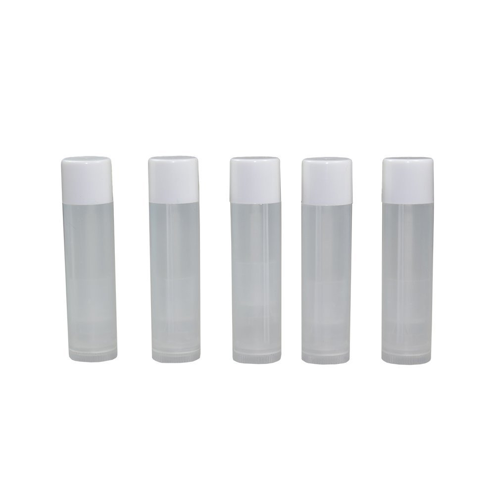 25  Lip Balm Container Tube Empty Natural White w/ Cap 8 ML 3 Pack - Peter Thomas Roth 24K Gold Mask Pure Luxury Lift and Firm Mask 5 oz