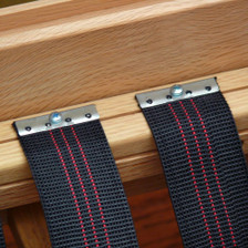 "Houseables 2"" Latex Elasbelt Stretch Webbing Upholstery - Sofa / Chair Repair - 40' Roll - Using View"