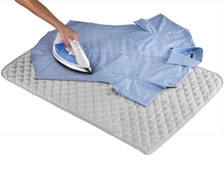 Houseables Magnetic Ironing Mat Laundry Pad Washer Dryer Cover Board Heat Resistant Blanket - Using View