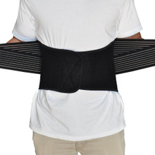 Back Support Brace Belt Lumbar Lower Waist Double Adjust- L, Used View