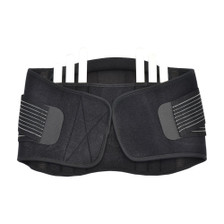 Back Support Brace Belt Lumbar Lower Waist Double Adjust- L, Side View