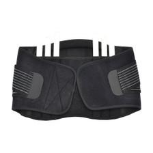 Back Support Brace Belt Lumbar Lower Waist Double Adjust- XL Rear View