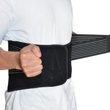Back Support Brace Belt Lumbar Lower Waist Double Adjust- XL, Side View