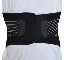 Back Support Brace Belt Lumbar Lower Waist Double Adjust- XL, Back View