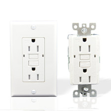 GFCI Outlet Receptacle 15 AMP 10 Pack, Close Up View