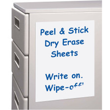 Erase Sheets White Board Removable Vinyl Sticker Whiteboard- 5 Pack, Top View