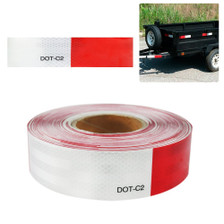 "2""x150' 3M Red/White Reflective Safety Warning Conspicuity Tape Sticker Roll Usage"