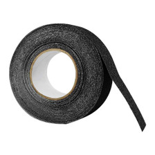"2"" x 60' Black Roll Safety Non Skid Tape Anti Slip Tape Sticker Grip Safe Grit Front View"