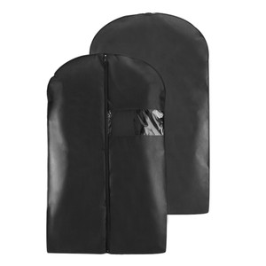 Black Breathable Suit Carrier Travel Garment Cover Coat Dress Bag 40""