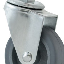 Caster Wheels Set of 4 - Single Wheel View Zoomed in