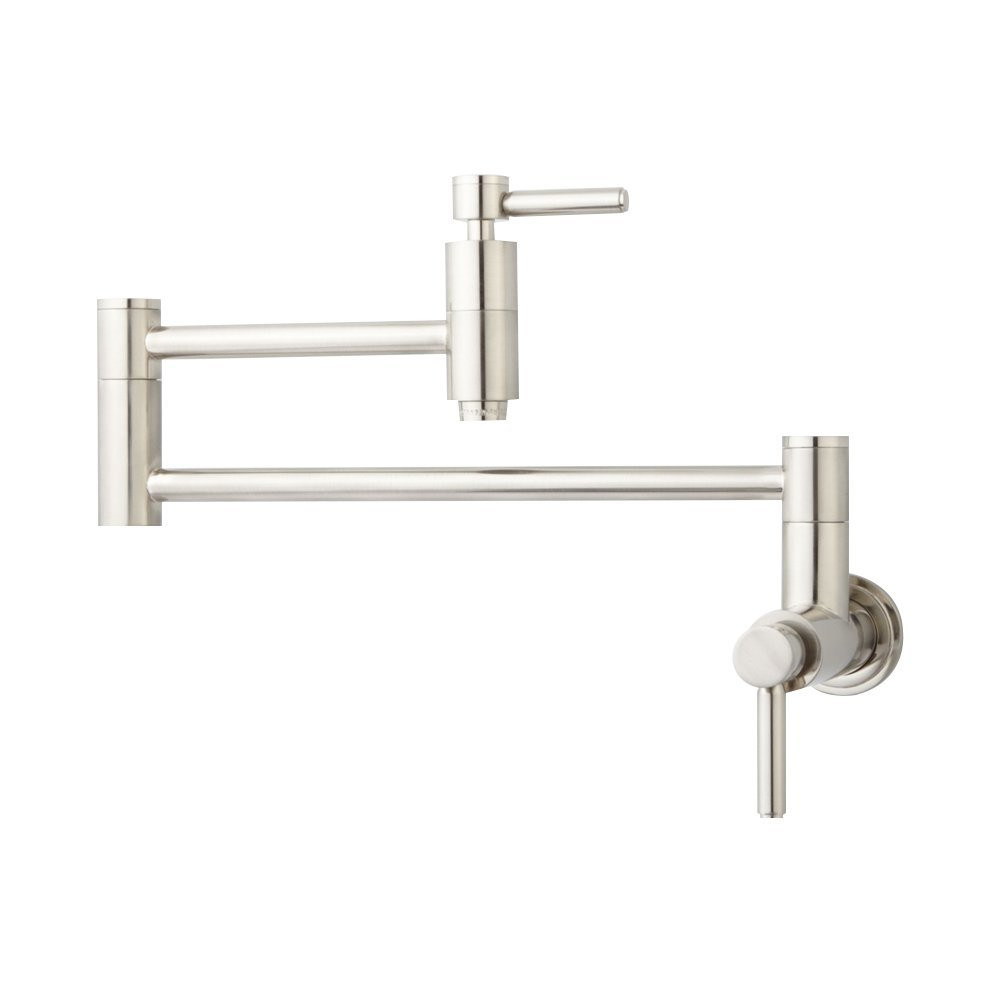 Houseables 21 Modern Retractable Double Joint Wall Mount Pot Filler
