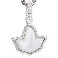 Mother of pearl Ivy Pendant and Sterling Silver Necklace