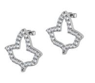 Open Ivy Shaped Diamond Earrings
