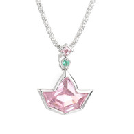Pink Ivy Pendant with Sterling Silver Necklace