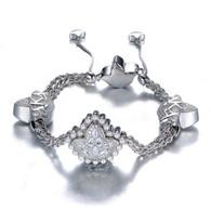 Sterling Silver Heirloom Charm Adjustable close Bracelet