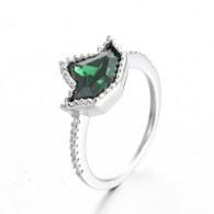 Sterling Silver Emerald Ivy Ring