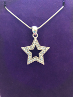 Large Open Silver Star Pendant