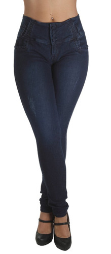 A5140P – Plus Size, Butt Lift Levanta Cola, Elastic Waist, Sexy Skinny Jeans