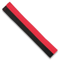 "Half black half red 2"" belt double wrap belt."