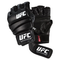 Practice makes perfect - which is why the UFC Practice Glove is the perfect addition to your training gear! This glove is best used for ground and pound training, which takes advantage of the sectioned padding that allows for easy fist making. The closed palm includes mesh ventilation to cool the hands and is pre-curved with individual fingers slots for ultimate dexterity. The glove also features new ClinchStrap™ technology. This two-step securing system uses a second, shorter hook/loop strap to help lock the glove in place and reduce movement. The ClinchStrap™ also creates a larger hand opening to easily slip gloves on and off. Imported. Sizes: S/M, L/XL Sizes: Black