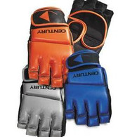 Century's exclusive glove incoporates an open design with a thumb loop integrated into the wrist strap for easy on and easy off functionality. MMA gloves.