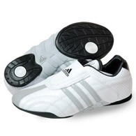 ADIDAS ADI-LUXE WHITE/GREY STRIPES MARTIAL ARTS SHOES