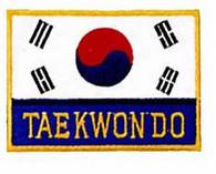 Korean Flag Tae Kwon Do Patch