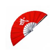 Red Wushu Iron Fan